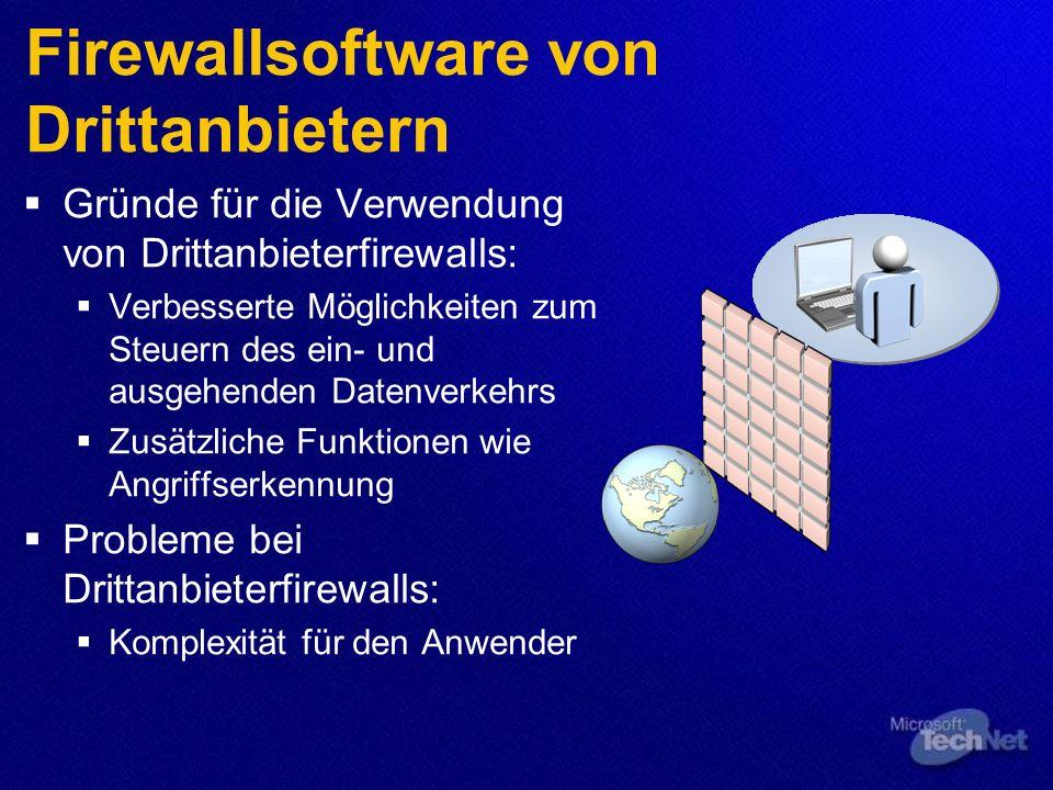 Firewallsoftware von Drittanbietern