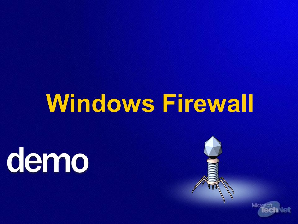 Implemation von Client- und Serversicherheit Windows Firewall