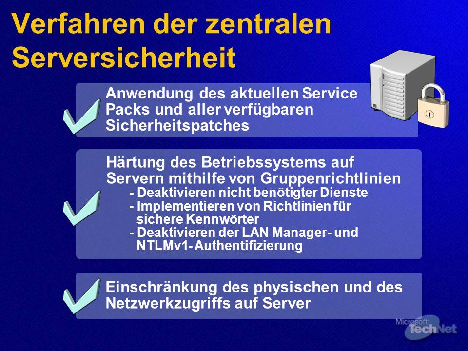 Verfahren der zentralen Serversicherheit