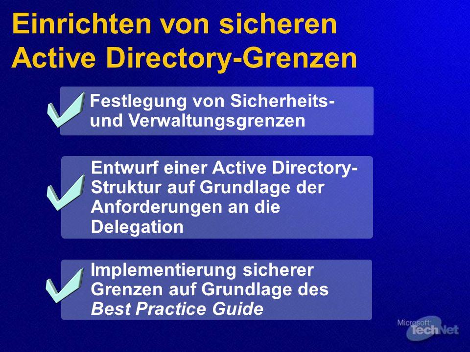 Einrichten von sicheren Active Directory-Grenzen