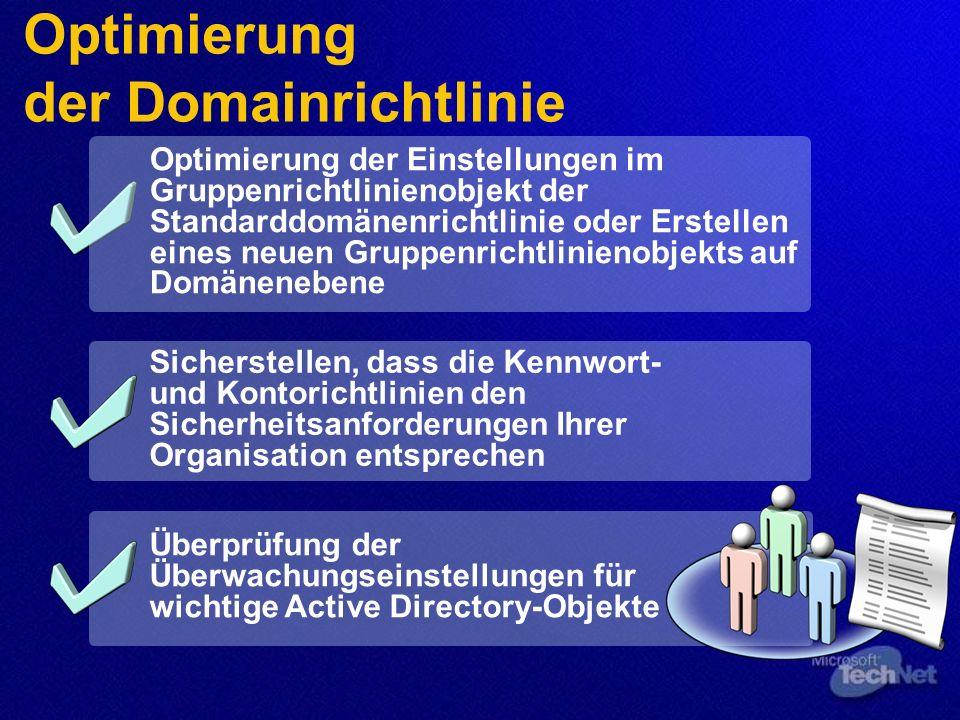 Optimierung der Domainrichtlinie
