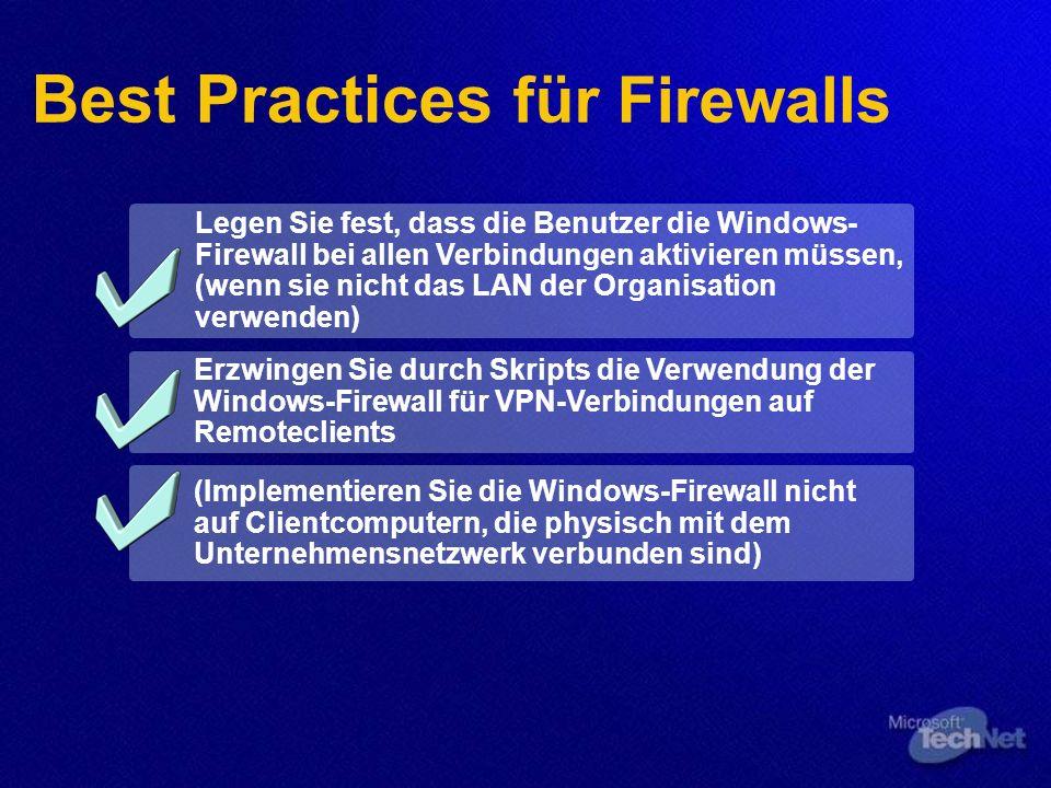Best Practices für Firewalls