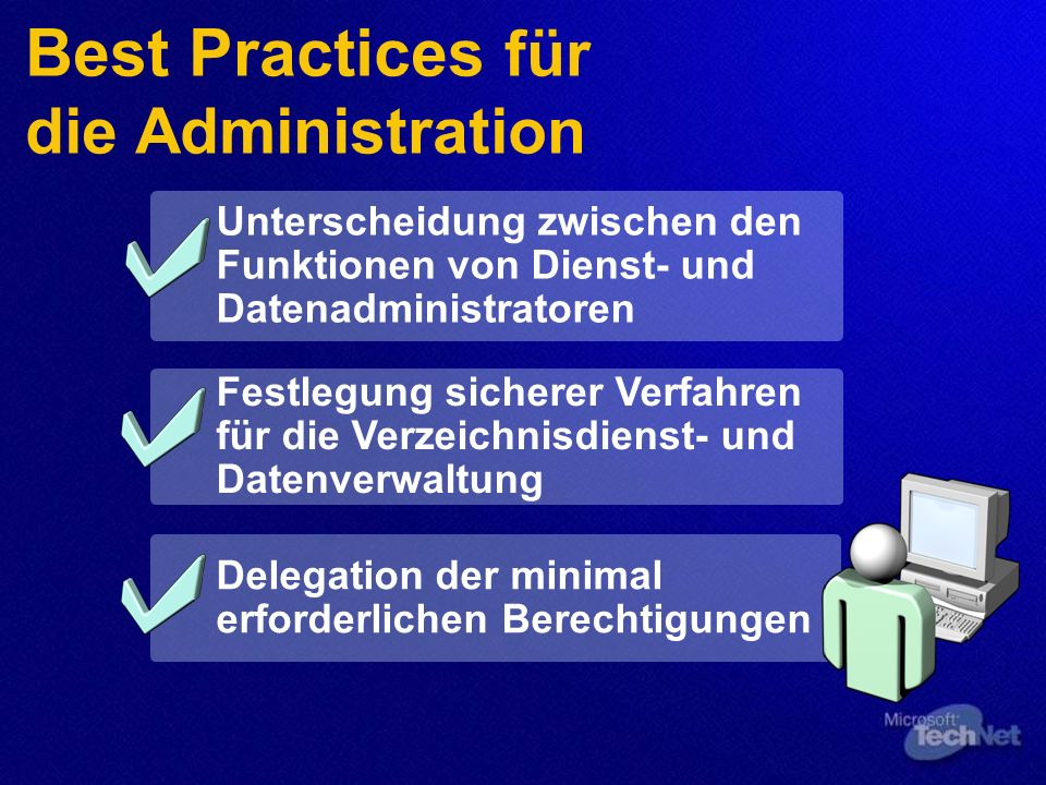 Best Practices für die Administration