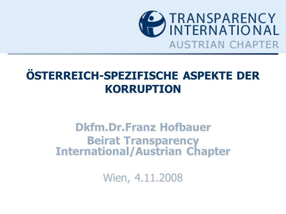 ÖSTERREICH-SPEZIFISCHE ASPEKTE DER KORRUPTION