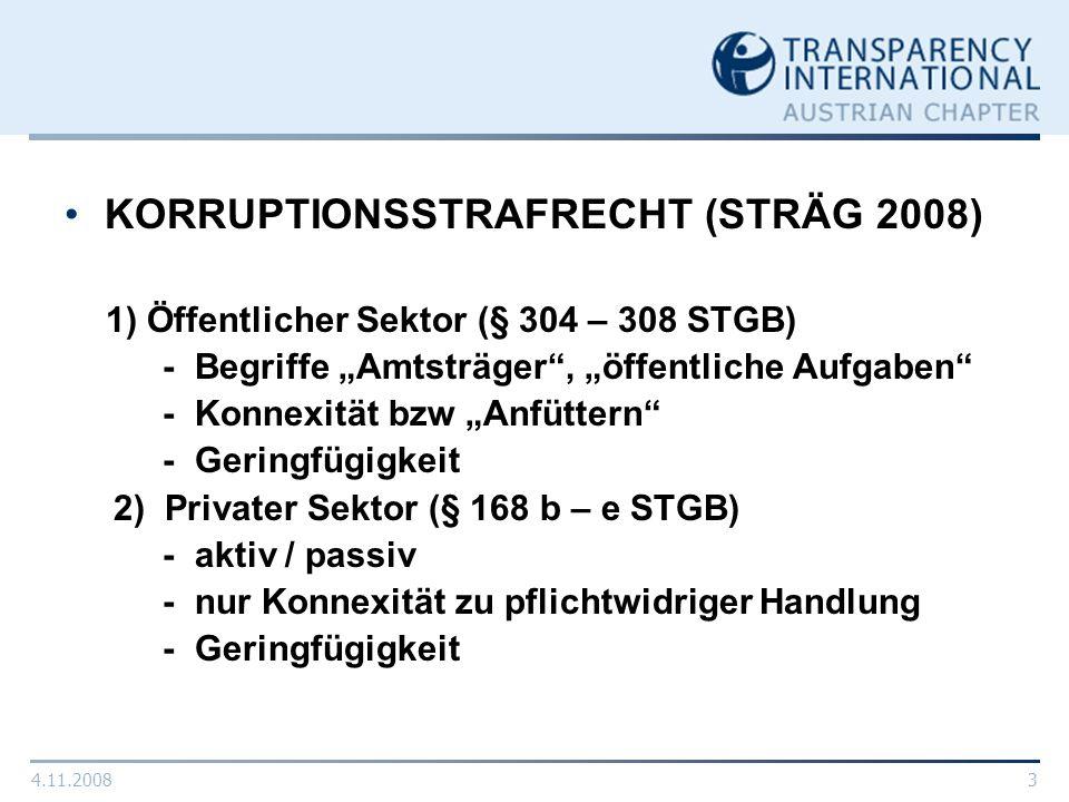 KORRUPTIONSSTRAFRECHT (STRÄG 2008)