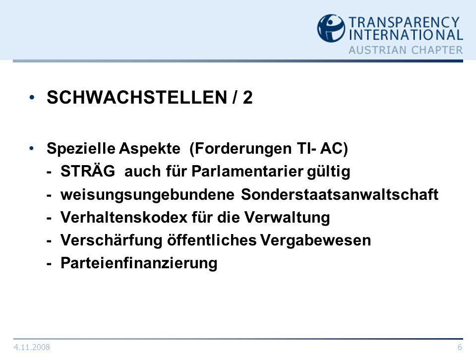 SCHWACHSTELLEN / 2 Spezielle Aspekte (Forderungen TI- AC)