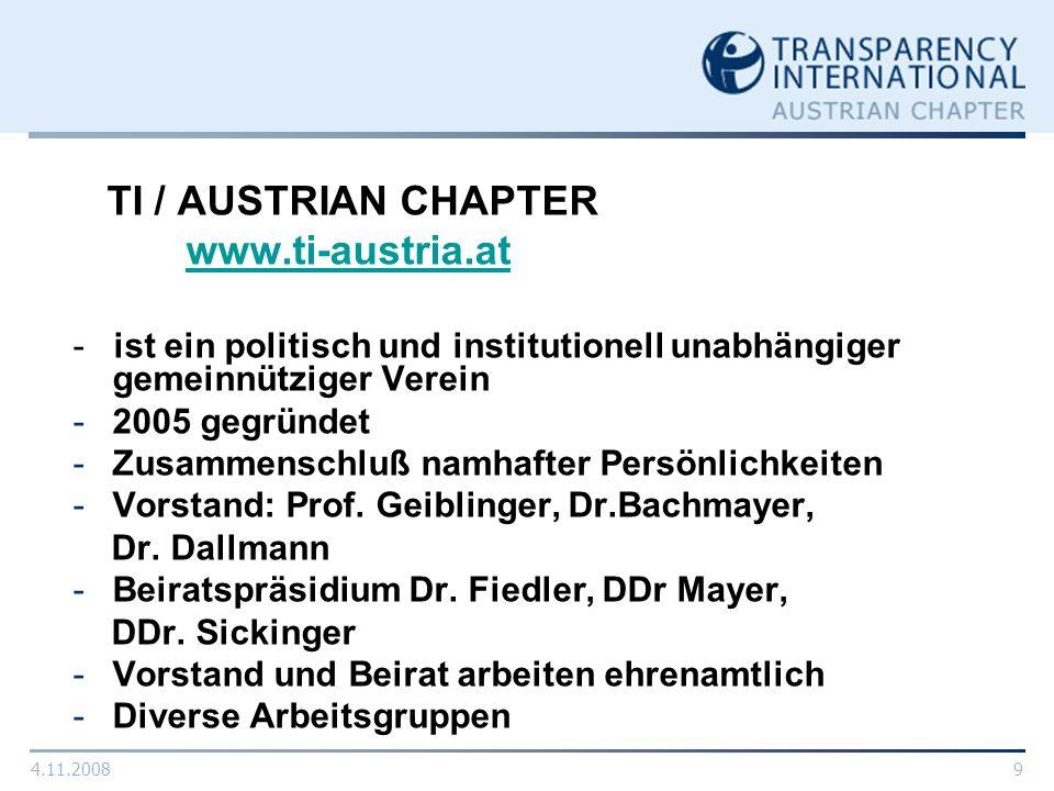 TI / AUSTRIAN CHAPTER www.ti-austria.at