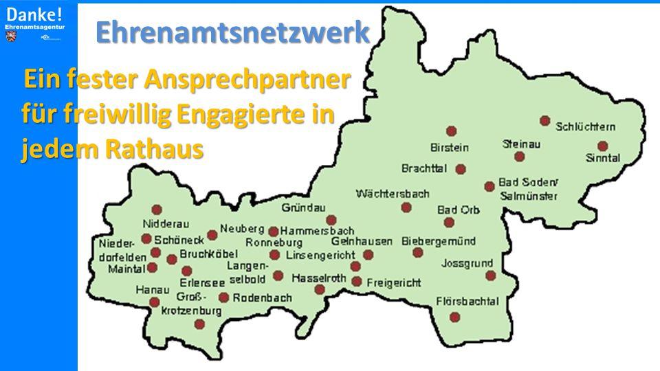 Ehrenamtsnetzwerk Ein fester Ansprechpartner für freiwillig Engagierte in jedem Rathaus