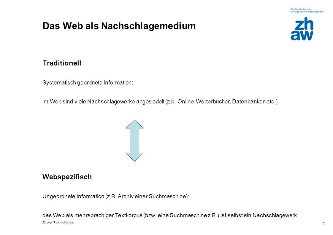 Das Web als Nachschlagemedium