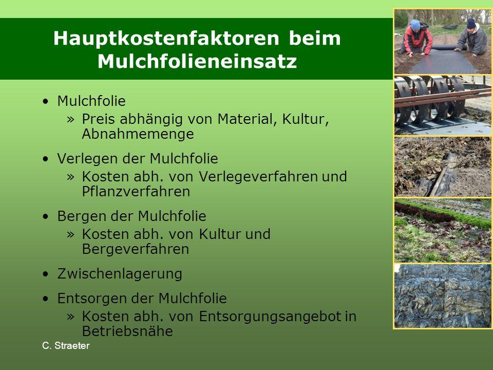 Hauptkostenfaktoren beim Mulchfolieneinsatz