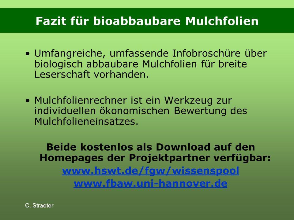 Fazit für bioabbaubare Mulchfolien