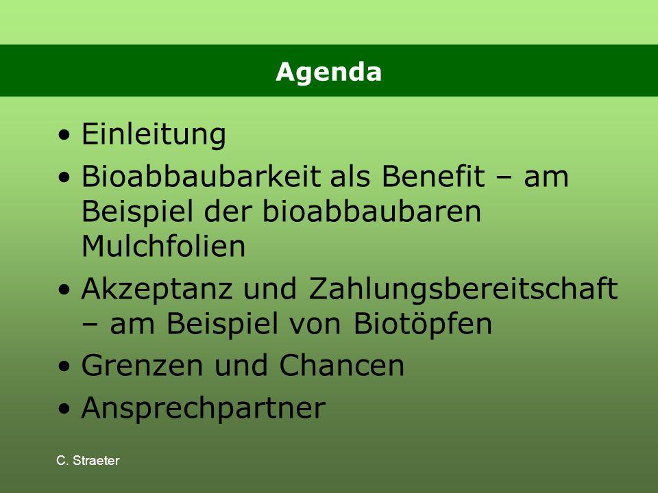 Akzeptanz und Zahlungsbereitschaft – am Beispiel von Biotöpfen