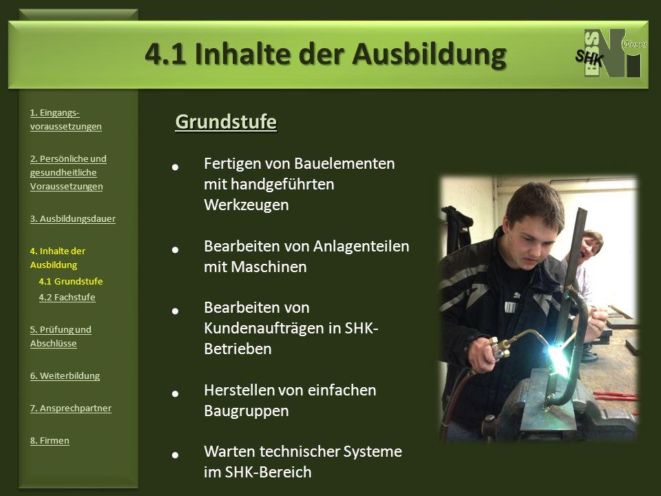 4.1 Inhalte der Ausbildung