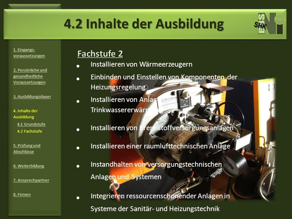 4.2 Inhalte der Ausbildung
