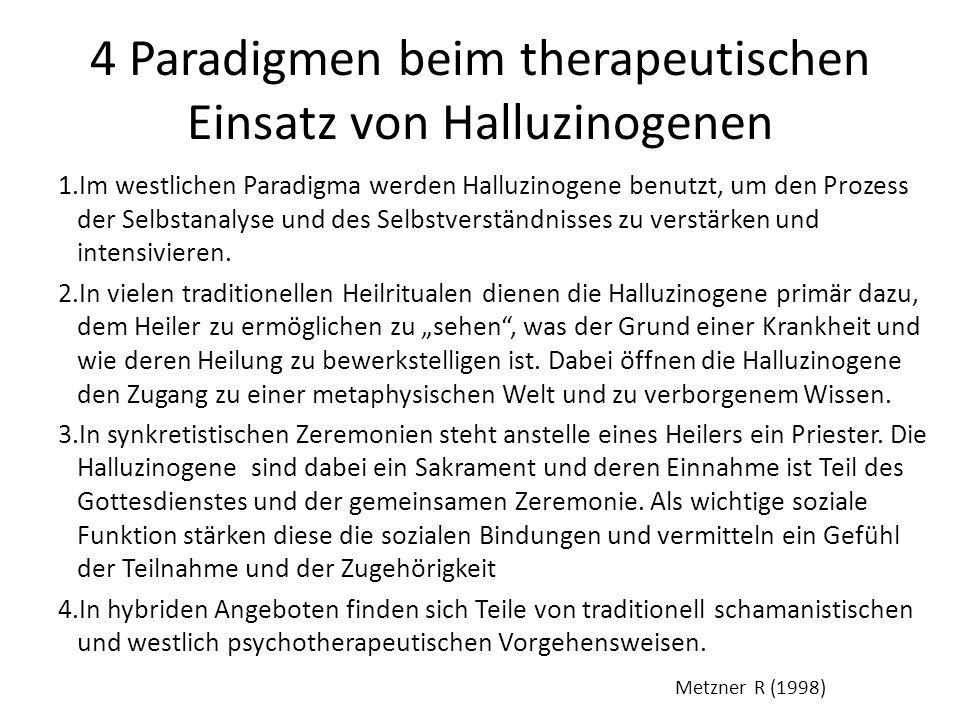 4 Paradigmen beim therapeutischen Einsatz von Halluzinogenen