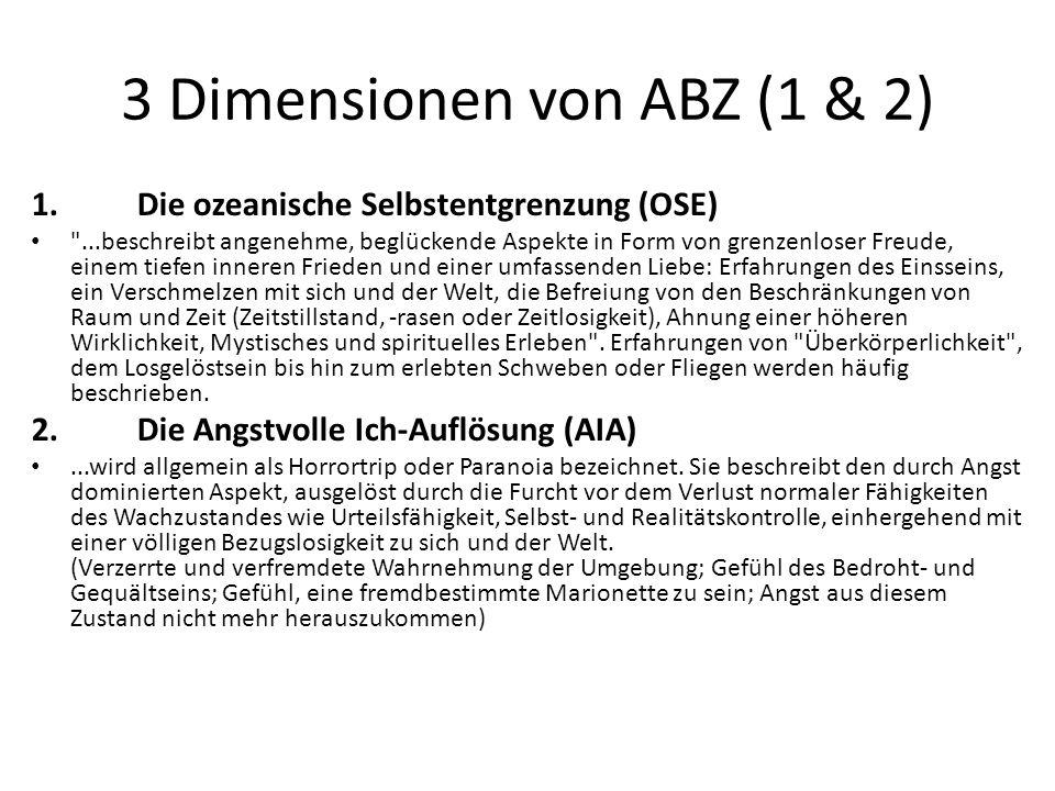 3 Dimensionen von ABZ (1 & 2)