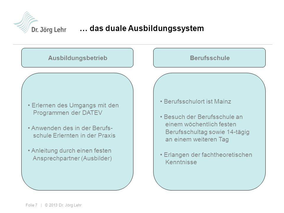 … das duale Ausbildungssystem