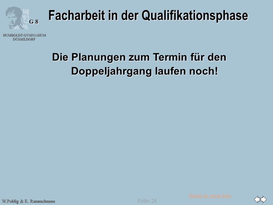 Facharbeit in der Qualifikationsphase