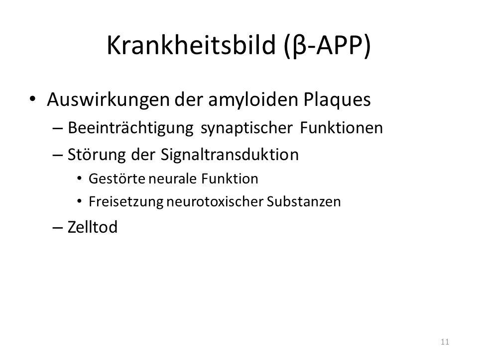 Krankheitsbild (β-APP)