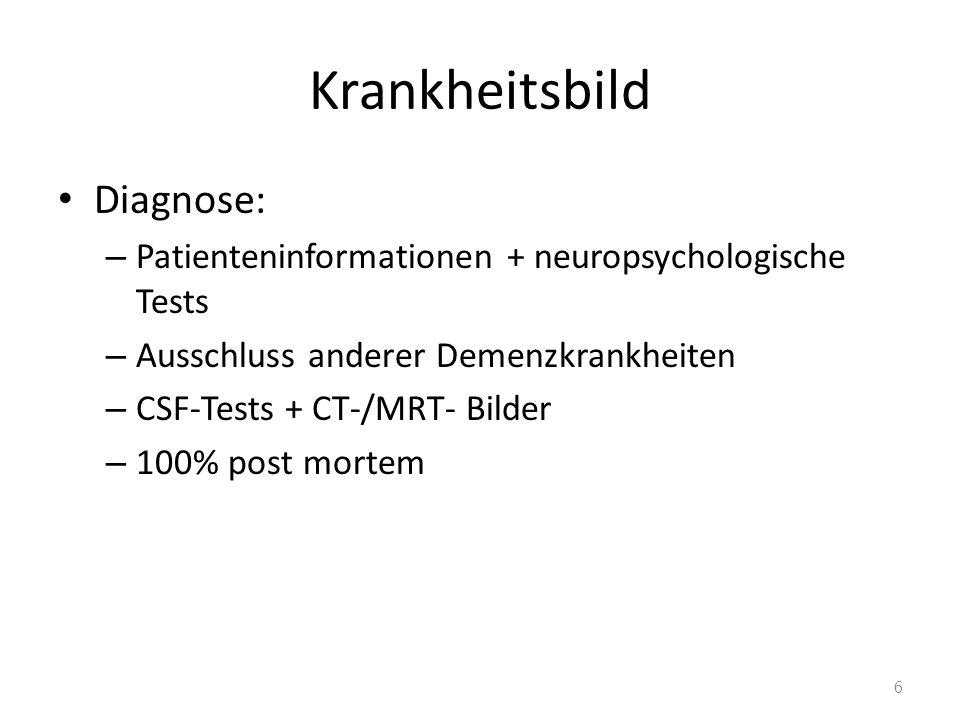 Krankheitsbild Diagnose: