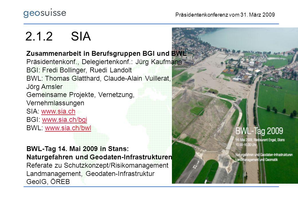 2.1.2 SIA Zusammenarbeit in Berufsgruppen BGI und BWL