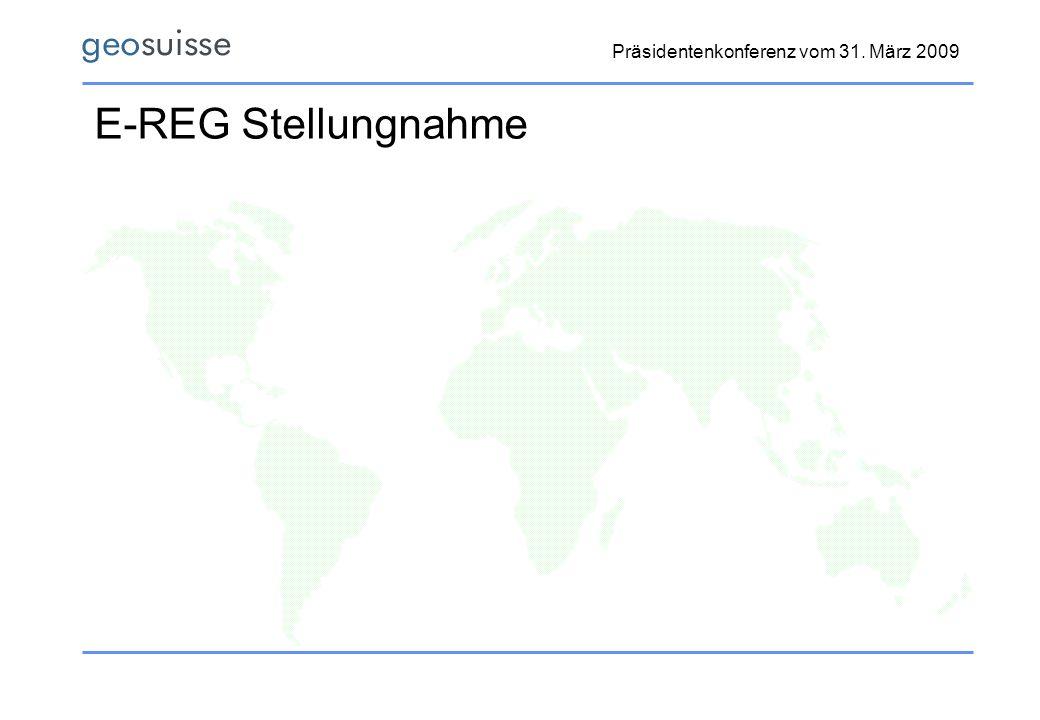 E-REG Stellungnahme