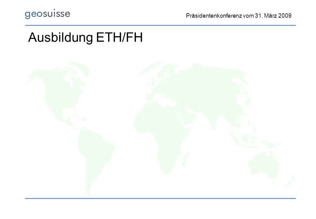 Ausbildung ETH/FH