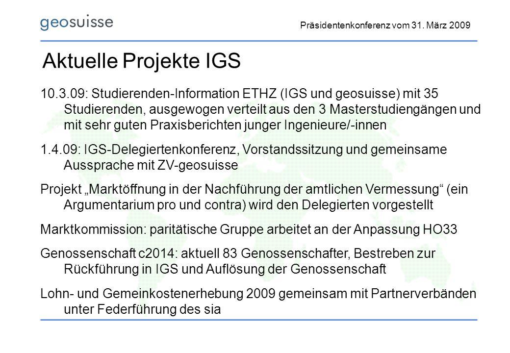Aktuelle Projekte IGS
