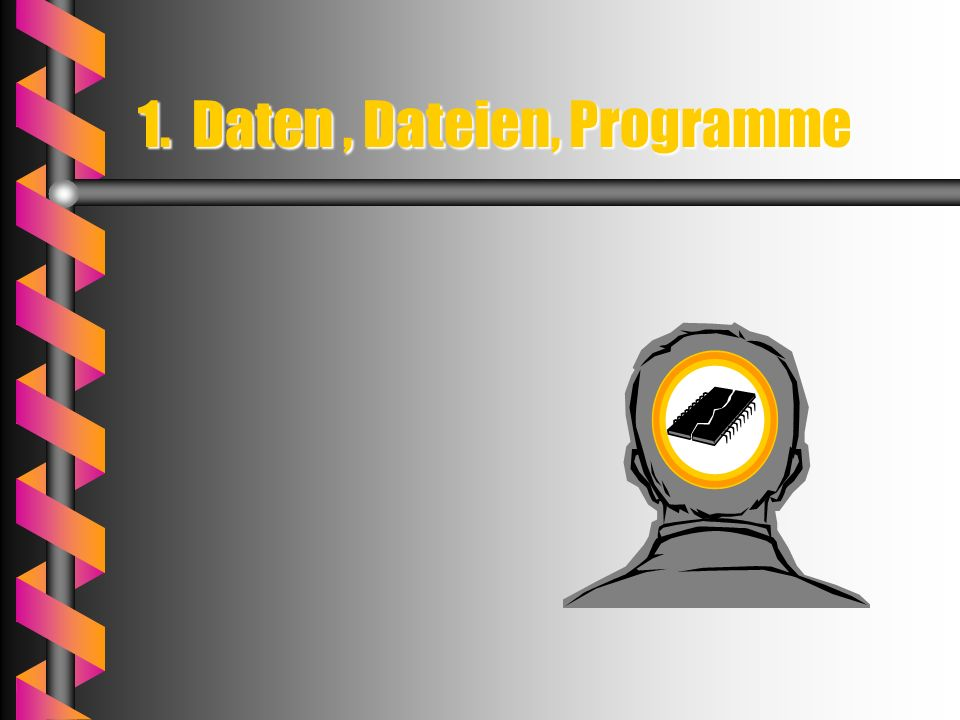1. Daten , Dateien, Programme
