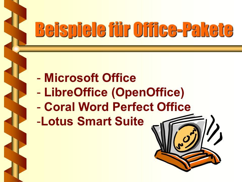 Beispiele für Office-Pakete