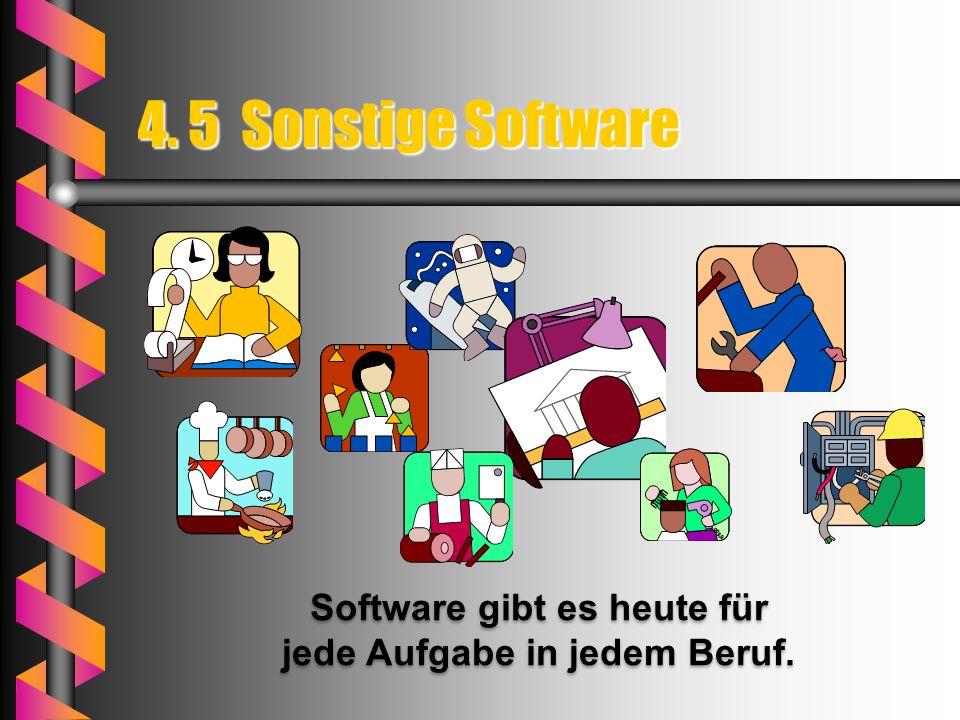 Software gibt es heute für jede Aufgabe in jedem Beruf.