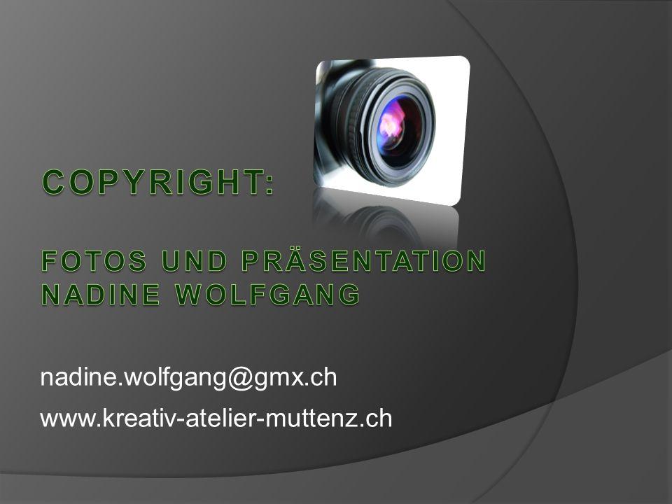 Fotos und präsentation nadine Wolfgang
