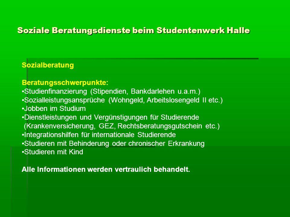 Soziale Beratungsdienste beim Studentenwerk Halle