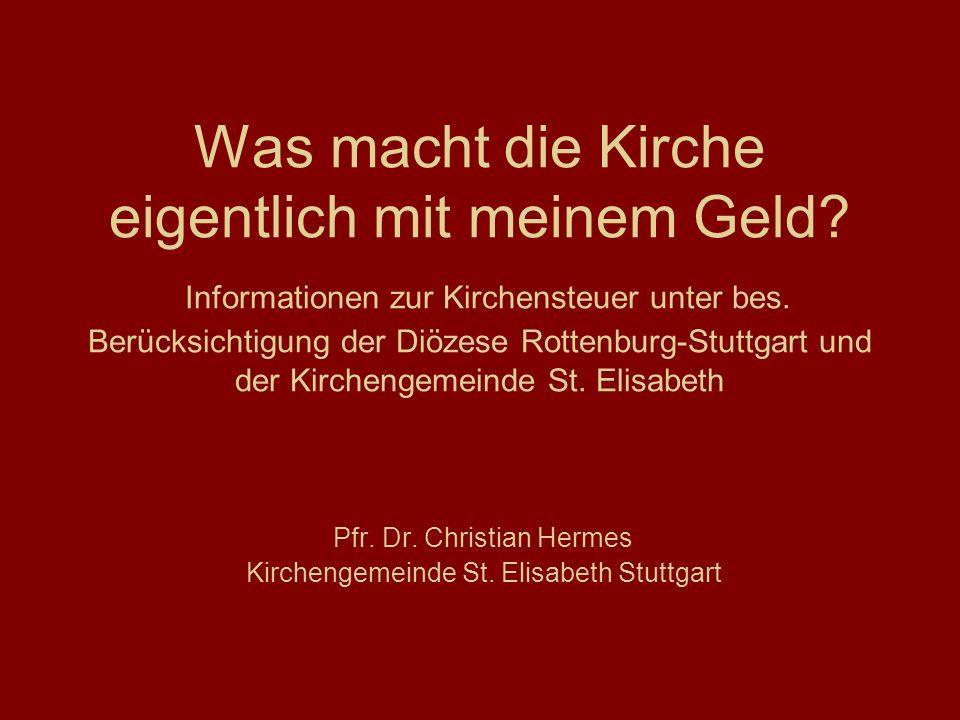 Pfr. Dr. Christian Hermes Kirchengemeinde St. Elisabeth Stuttgart