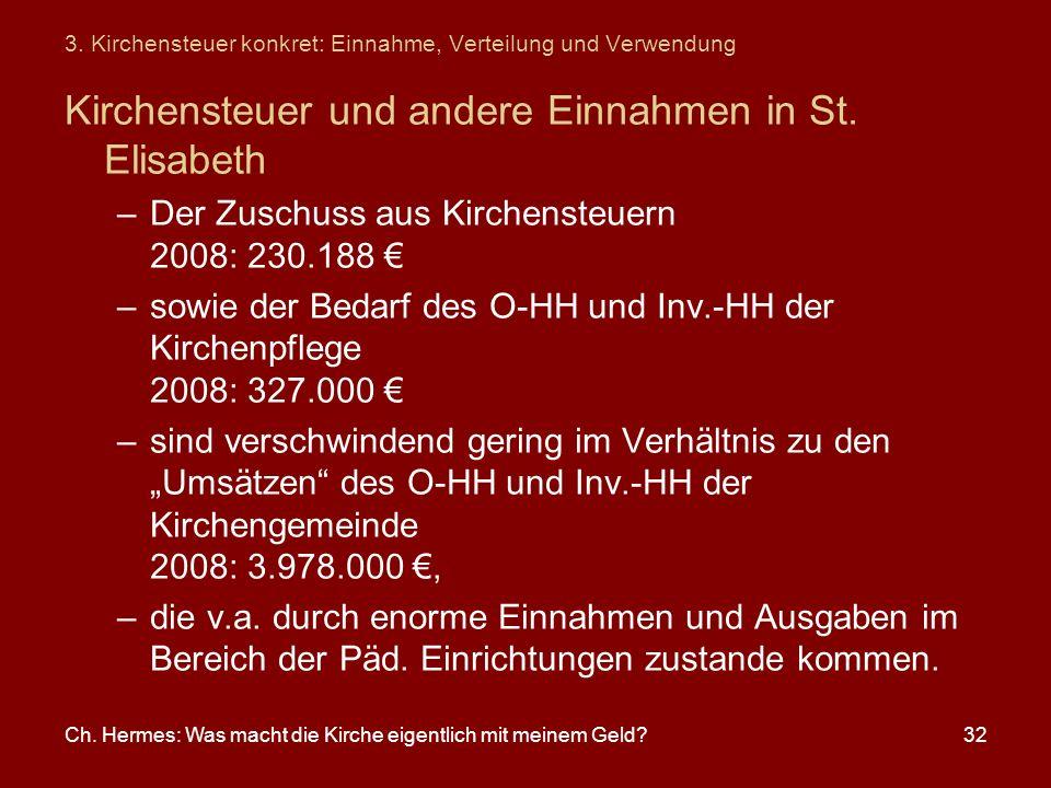 3. Kirchensteuer konkret: Einnahme, Verteilung und Verwendung