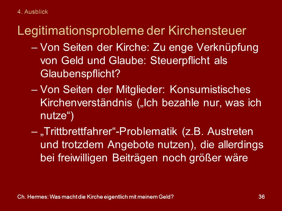 Legitimationsprobleme der Kirchensteuer