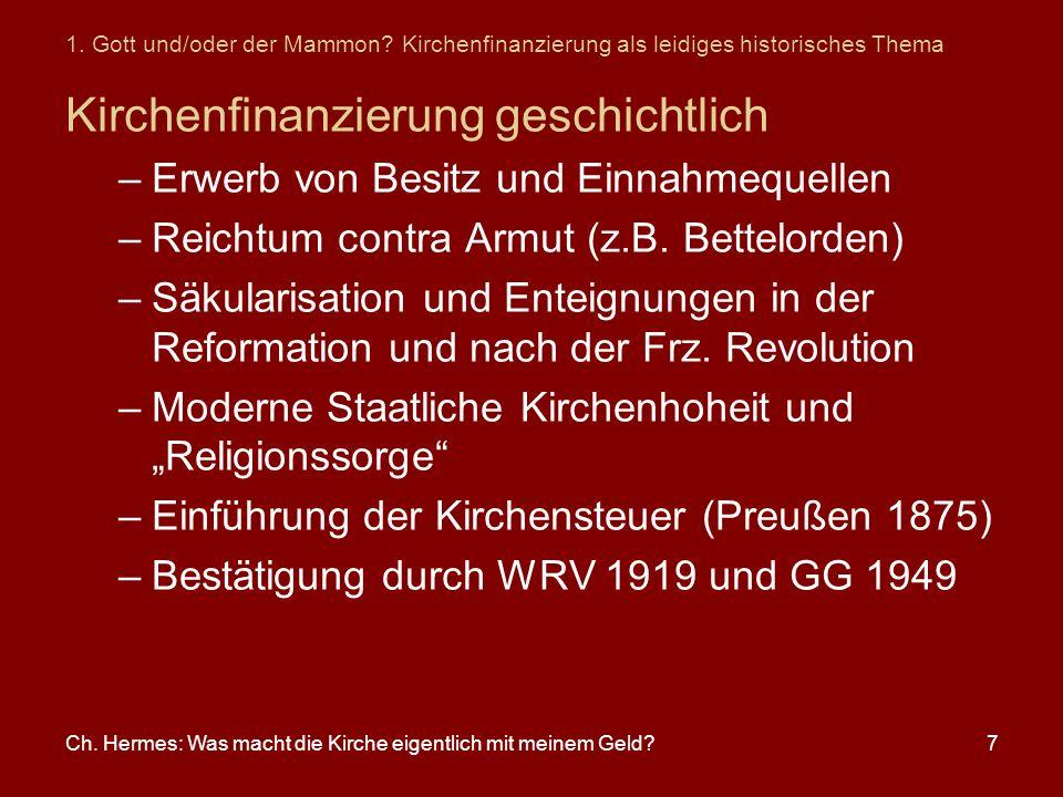 Kirchenfinanzierung geschichtlich