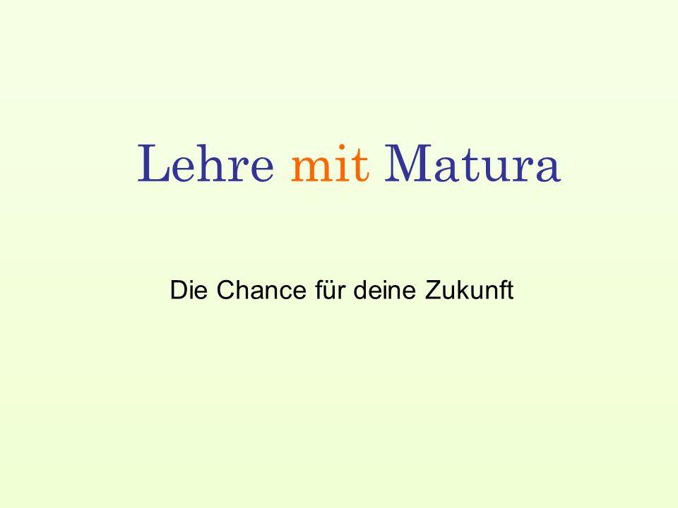 Die Chance für deine Zukunft