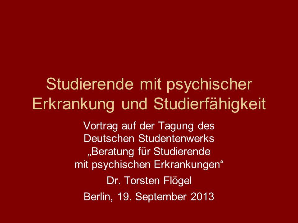 Studierende mit psychischer Erkrankung und Studierfähigkeit