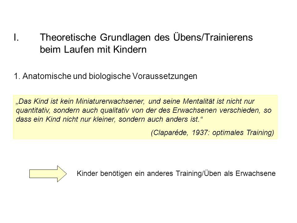 Theoretische Grundlagen des Übens/Trainierens beim Laufen mit Kindern