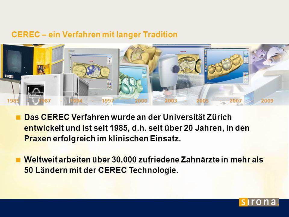 CEREC – ein Verfahren mit langer Tradition