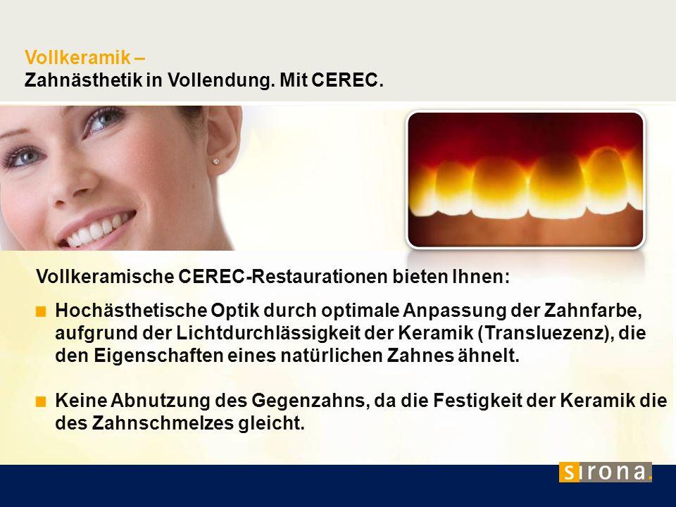 Zahnästhetik in Vollendung. Mit CEREC.