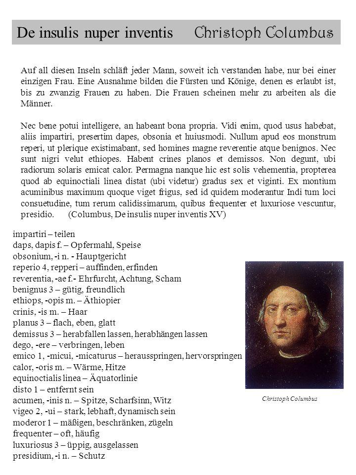 De insulis nuper inventis Christoph Columbus