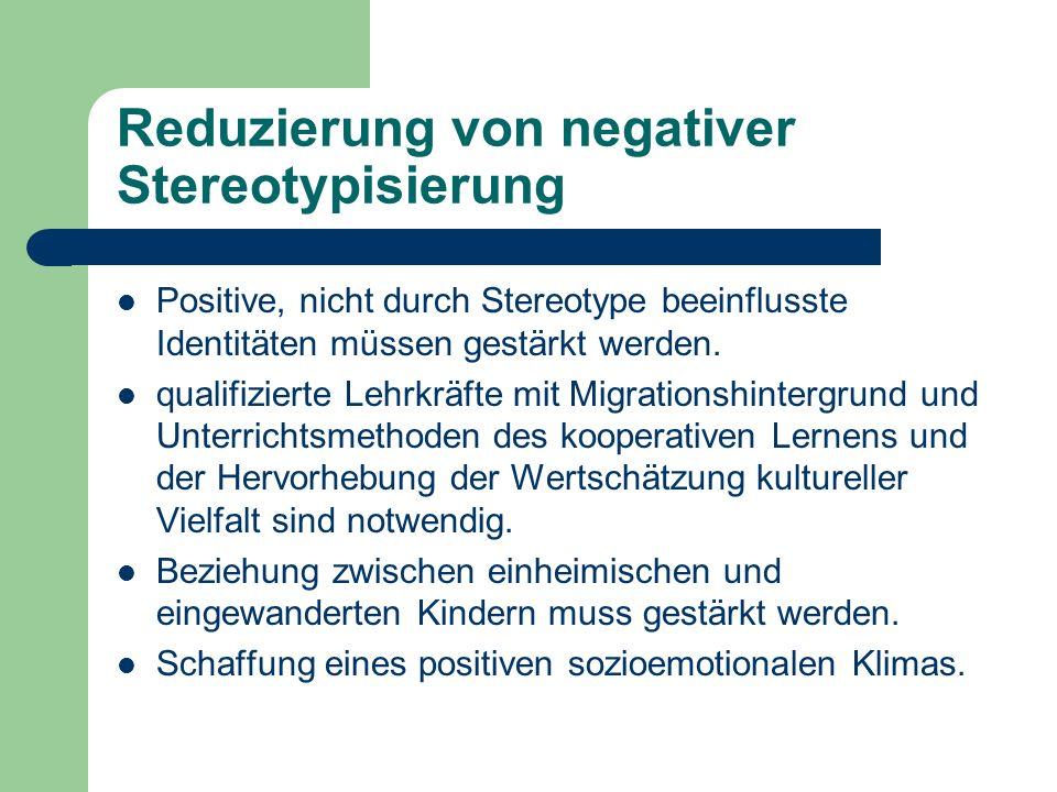 Reduzierung von negativer Stereotypisierung