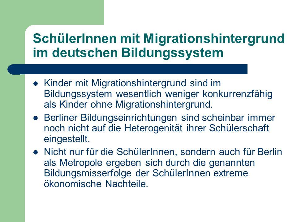 SchülerInnen mit Migrationshintergrund im deutschen Bildungssystem