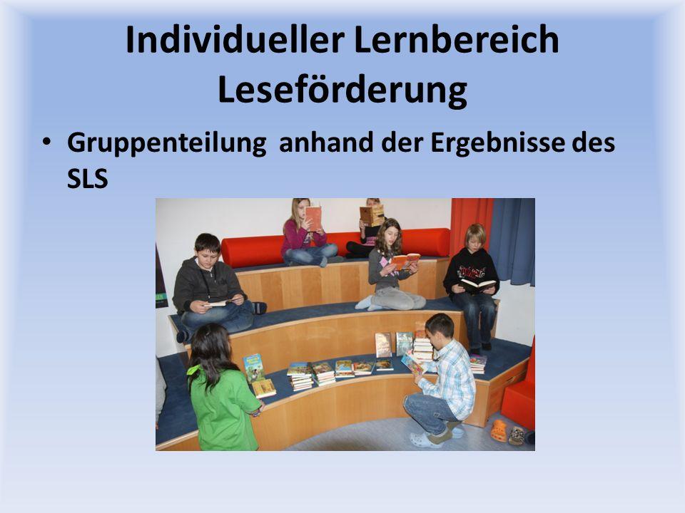 Individueller Lernbereich Leseförderung