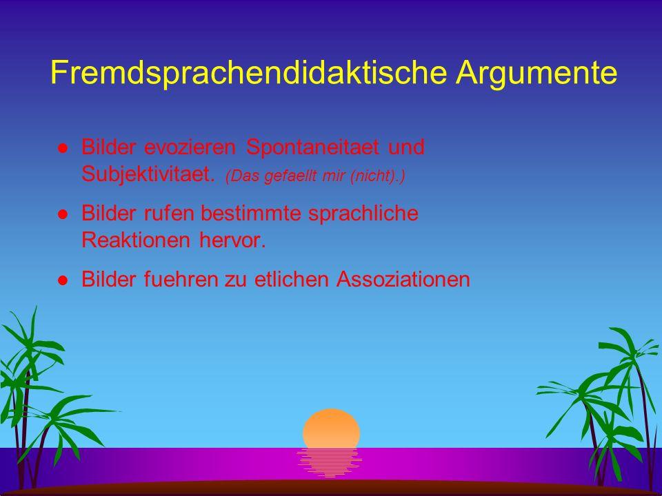 Fremdsprachendidaktische Argumente
