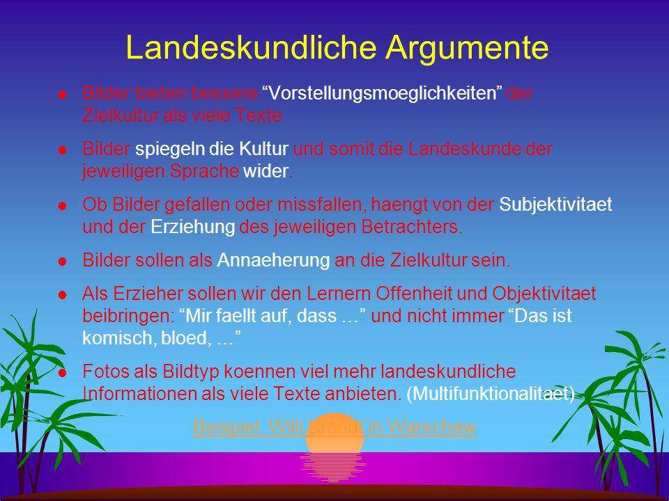 Landeskundliche Argumente
