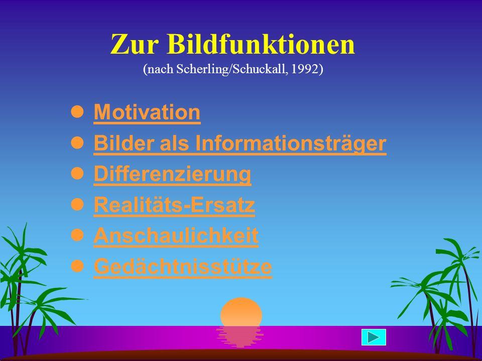 Zur Bildfunktionen (nach Scherling/Schuckall, 1992)