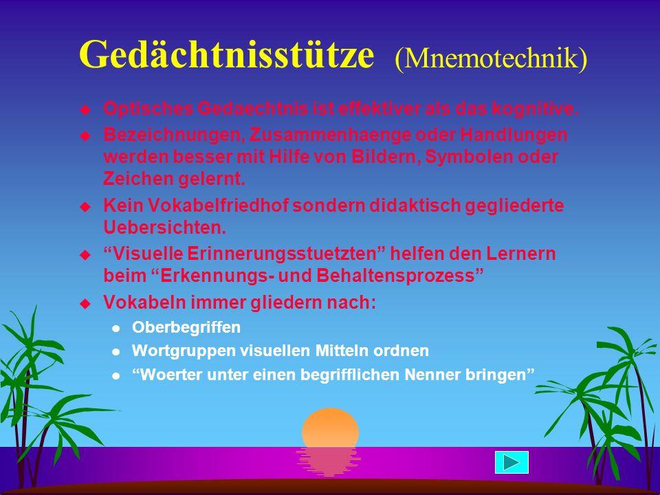 Gedächtnisstütze (Mnemotechnik)